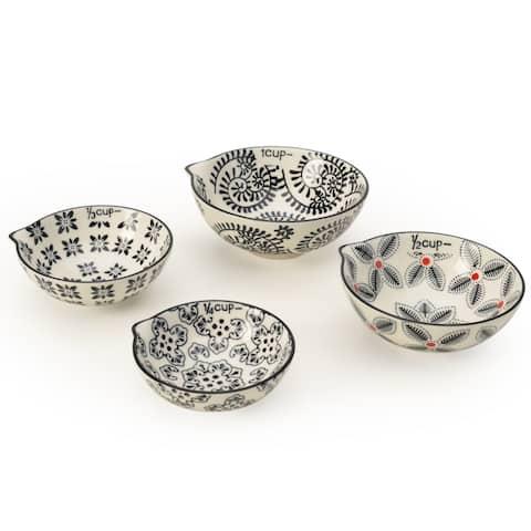 Signature Housewares Set of Four Measuring Cup Set, Print 1