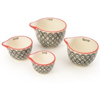 Signature Housewares Set of Four Measuring Cup Set, Print 12