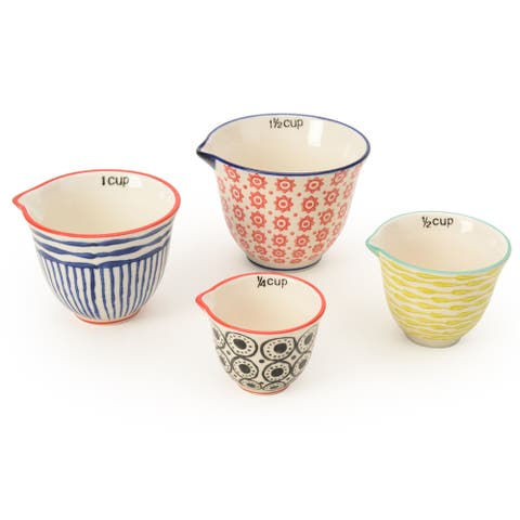 Signature Housewares Set of Four Measuring Cup Set, Print 13