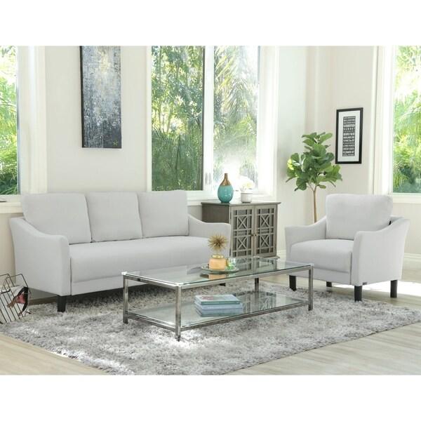 Porch & Den Muirwood Fabric Sofa and Chair 2-piece Set