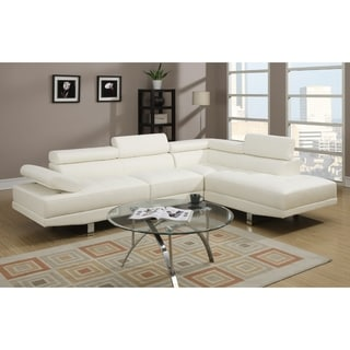 Margaret Sectional, Ivory White