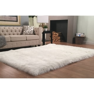 Link to Silver Orchid Nansen Luxurious Faux Sheepskin Shag Area Rug Similar Items in Rugs