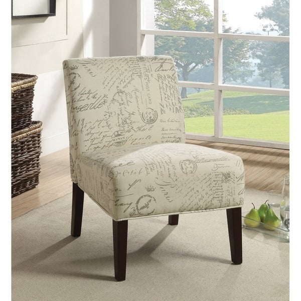 Shop Pierre Traditional Off White And Grey Accent Chair Free