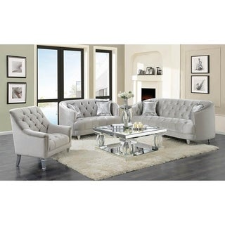 Ralston Contemporary Grey and Silver Chair