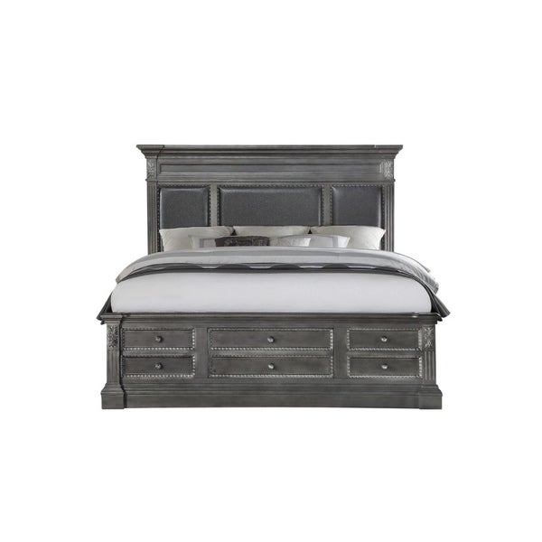Furniture Store Online Usa: Shop Global Furniture Usa Marseille Gray King Bed