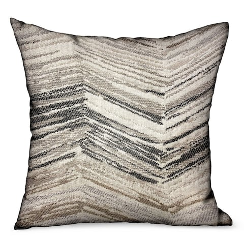 Plutus Jagged Sand Brown Geometric Luxury Outdoor/Indoor Decorative Throw Pillow