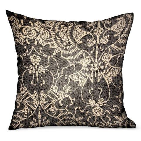 Plutus Adriel Bay Gray Chevron Luxury Outdoor/Indoor Decorative Throw Pillow