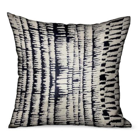 Plutus Radiant Beryl Blue Abstract Luxury Outdoor/Indoor Decorative Throw Pillow