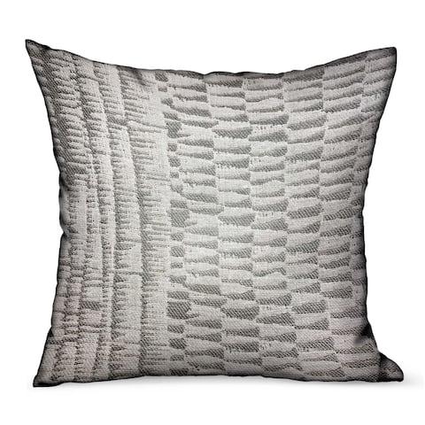 Plutus Epoxi River Gray Dobby Luxury Outdoor/Indoor Decorative Throw Pillow