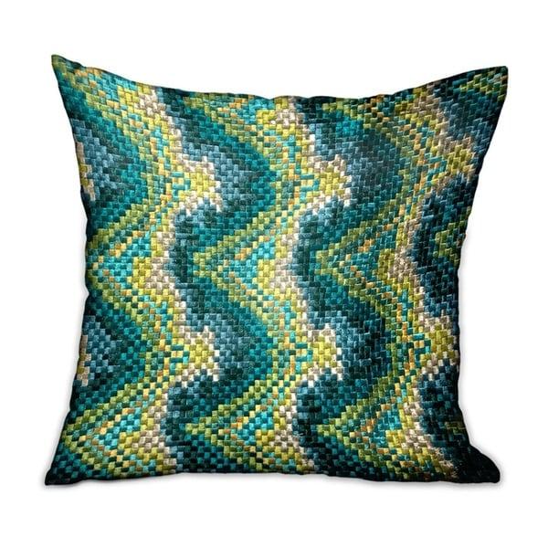 Plutus Montage Haven Green Geometric Luxury Decorative Throw Pillow