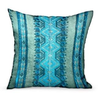 Plutus Alexandrite Stripe Green Geometric Luxury Decorative Throw Pillow