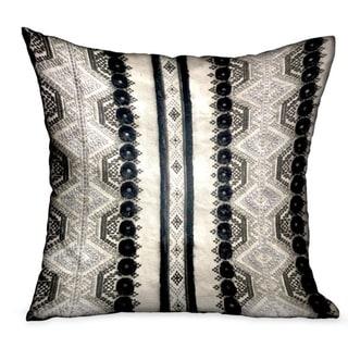 Plutus Scandanavian Stripe Black, White Geometric Luxury Decorative Throw Pillow