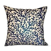Plutus Sapphire Vines Blue, cream Floral Luxury Throw Pillow