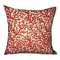 Plutus Sweet Trinidad Red Floral Luxury Throw Pillow