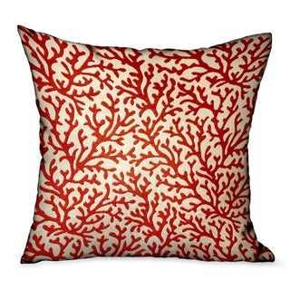 Plutus Sweet Trinidad Red Floral Luxury Decorative Throw Pillow