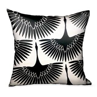 Plutus Black Swan Black Animal Motif Luxury Decorative Throw Pillow