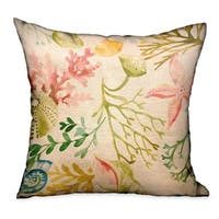 Plutus Underthesea Multi Floral Luxury Throw Pillow
