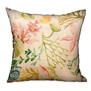 Plutus Underthesea Multi Floral Luxury Decorative Throw Pillow