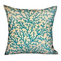 Plutus Marlin Vines Blue, cream Floral Luxury Throw Pillow