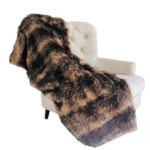 Plutus Brown Mountain Coyote Handmade Luxury Blanket