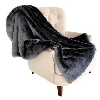Plutus Two Tone Gray/Amber Handmade Luxury Blanket