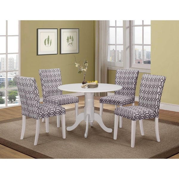 Jefferson Country Casual White 5-piece Pedestal Dining Set