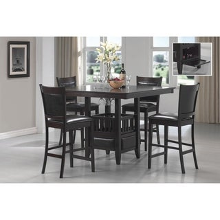 Finley Black 5-piece Counter Height Dining Set
