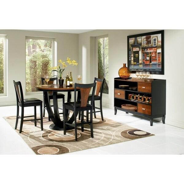 Dacio Black 5-piece Counter Height Dining Set