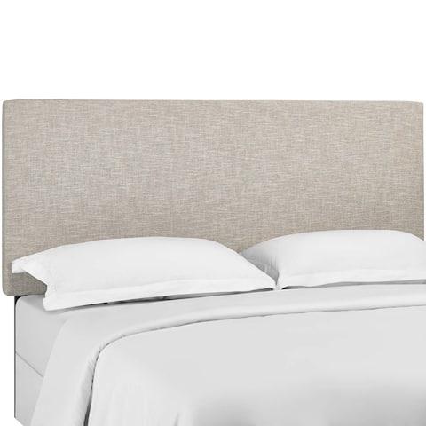 Carson Carrington Stryn Upholstered Linen Fabric Headboard
