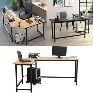 Porch & Den Broad L-shaped Computer/ Gaming/ Laptop Home Corner Office Desk