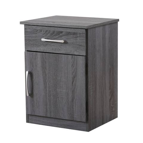 Alston 1-drawer and Cabinet Wood Nightstand