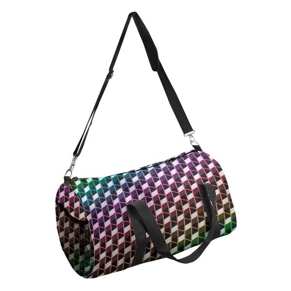 Shop Katelyn Elizabeth Rainbow Geometric Stripes Duffel Bag - Free Shipping  Today - Overstock.com - 27349209