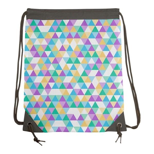 93f5b9ba43 Shop Katelyn Elizabeth Blue Pastel Triangle Pattern Drawstring Gym Bag -  15.5