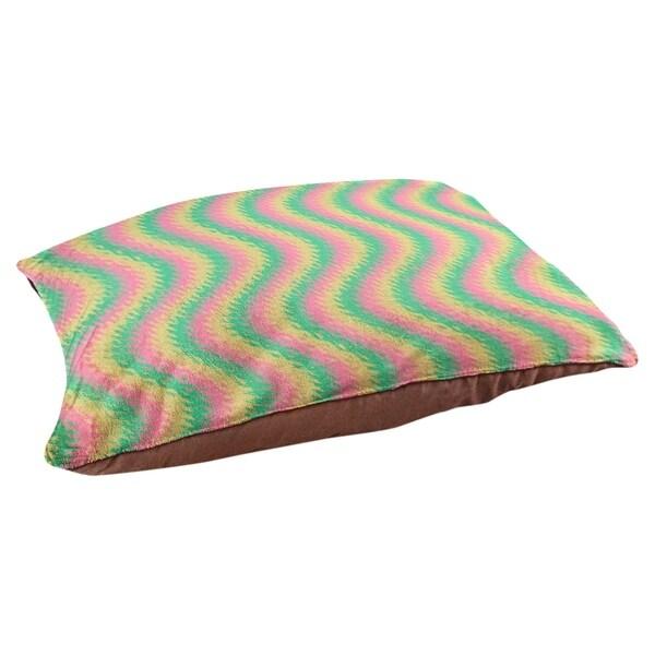 Katelyn Elizabeth Pink Yellow Green Wavy Stripe Pattern Dog Bed Overstock 27351420