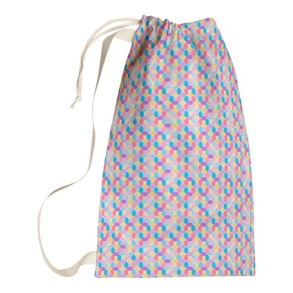 Katelyn Elizabeth Pink & Yellow Stained Glass Pattern Laundry Bag