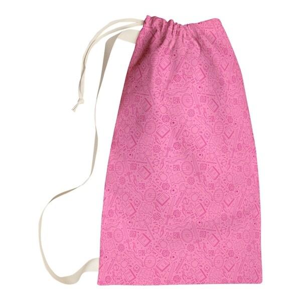 Katelyn Elizabeth Pink RPG Pattern Laundry Bag