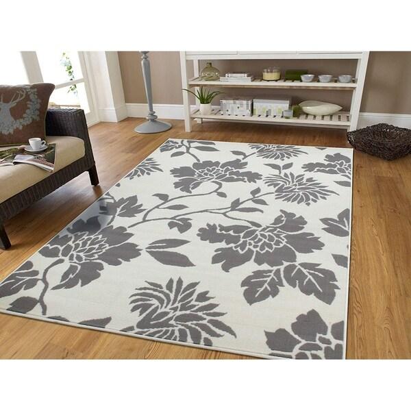 Do Area Rugs Work Over Carpet: Shop Copper Grove Tvarditsa White Floral Area Rug