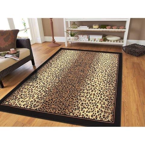 Porch & Den La Carter Brown Cheetah Print Area Rug