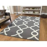 Luxury Modern Area Rugs Gray Moroccan Rug Multiple Sizes