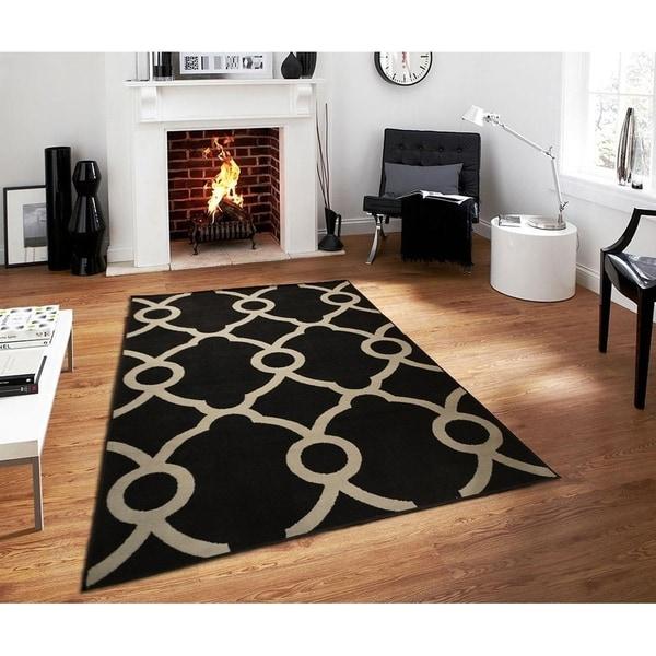 Shop Carson Carrington Fana Black Moroccan Luxury Area Rug