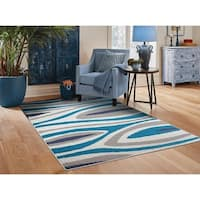 Contemporary Area Rugs Blue