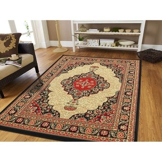 Copper Grove Elena Traditional Black Area Rug