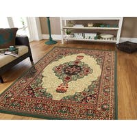 Copper Grove Oryahovo Traditional Green Area Rug