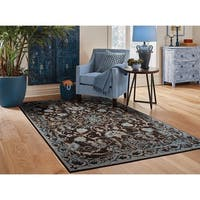 Traditional Distressed Area Rugs Black