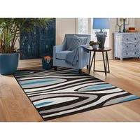 Porch & Den Kyle Black Contemporary Area Rug