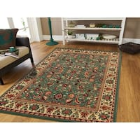 Traditional Area Rugs Green Natural Jute Backing Rug