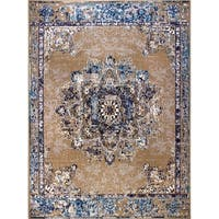 Copper Grove Perushtitsa Distressed Beige Area Rug