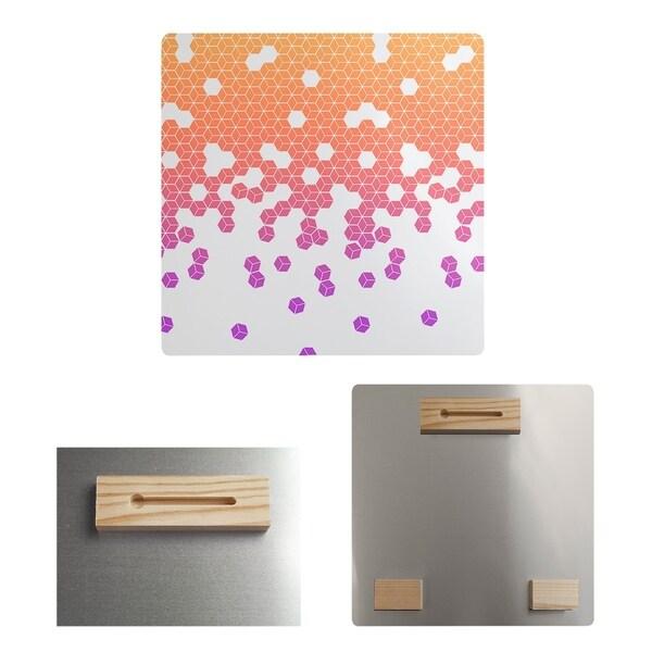 Katelyn Elizabeth Sunset Ombre Tumbling Cube Pattern Metal Print
