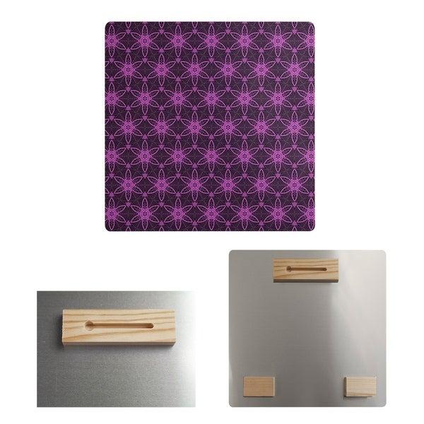 Katelyn Elizabeth Black & Violet Ornate Circles Metal Print