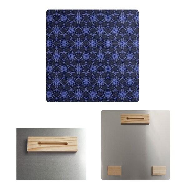Katelyn Elizabeth Black & Blue Ornate Circles Metal Print